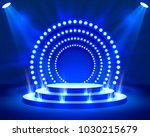 stage podium with lighting ... | Shutterstock .eps vector #1030215679