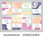 abstract colorful dots... | Shutterstock .eps vector #1030216465