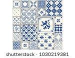 tile illustration. decor vector ... | Shutterstock .eps vector #1030219381