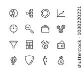 trade flat icon set. single... | Shutterstock .eps vector #1030220221