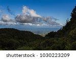 hilltop view of valley in new... | Shutterstock . vector #1030223209