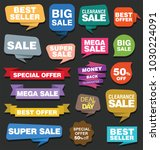 sale stickers and tags vector... | Shutterstock .eps vector #1030224091