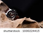 close up of luxury man wrist... | Shutterstock . vector #1030224415