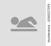 swimmer vector icon eps 10.... | Shutterstock .eps vector #1030227355