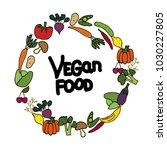 vector background. vegetarian... | Shutterstock .eps vector #1030227805