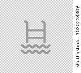 ladder pool vector icon eps 10. ... | Shutterstock .eps vector #1030228309