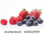 Blueberries  Raspberries And...
