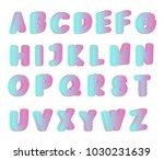 vibrant gradient lettering.... | Shutterstock .eps vector #1030231639