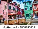 burano  italy   may 21  2017 ... | Shutterstock . vector #1030233055