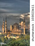 the blue mosque  shah alam ... | Shutterstock . vector #103023611