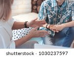 gesturing while talking. scaled ... | Shutterstock . vector #1030237597