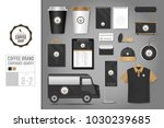corporate identity template set ... | Shutterstock .eps vector #1030239685