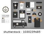 corporate identity template set ... | Shutterstock .eps vector #1030239685