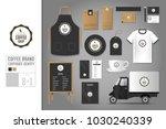 corporate identity template set ... | Shutterstock .eps vector #1030240339