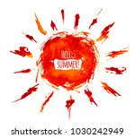 hand drawn painted watercolor... | Shutterstock .eps vector #1030242949