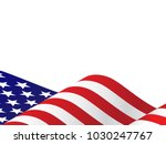 Waving Usa Flag Vector...