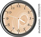 wooden wall clock isolated on... | Shutterstock .eps vector #103025195