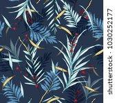 dark night hawaii print vector... | Shutterstock .eps vector #1030252177