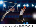 basketball player in action in...   Shutterstock . vector #1030256014