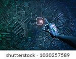 3d rendering robot finger... | Shutterstock . vector #1030257589