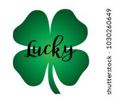 lucky calligraphy graphic on... | Shutterstock .eps vector #1030260649