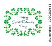happy saint patricks day in... | Shutterstock .eps vector #1030260661