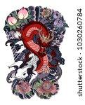 japanese tattoo design full...   Shutterstock .eps vector #1030260784
