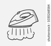vector hand drawn modern steam... | Shutterstock .eps vector #1030268584