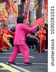 London, United Kingdom, 18th Febuary 2018:- Festivities to celebrate Chinese New Year in London's Chinatown area and surrounding streets, for the year of the dog 2018 - stock photo