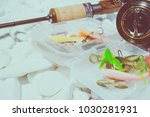 fishing bait background | Shutterstock . vector #1030281931