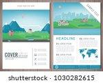 illustrationcity brochure with... | Shutterstock .eps vector #1030282615