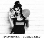 pretty cute sexy builder girl... | Shutterstock . vector #1030285369