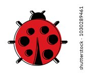 cute ladybug dotted animal... | Shutterstock .eps vector #1030289461