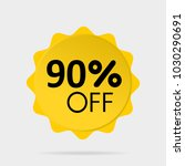 special offer sale yellow... | Shutterstock .eps vector #1030290691