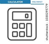 calculator icon. professional ... | Shutterstock .eps vector #1030295779