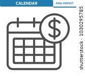 calendar icon. professional ... | Shutterstock .eps vector #1030295785