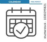calendar icon. professional ... | Shutterstock .eps vector #1030295821