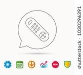 remote control icon. tv... | Shutterstock .eps vector #1030296391