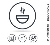 tea cup icon. hot coffee drink... | Shutterstock .eps vector #1030296421