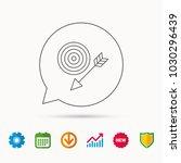 target with arrow icon. dart... | Shutterstock .eps vector #1030296439
