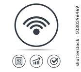 wifi icon. wireless internet... | Shutterstock .eps vector #1030296469