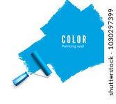 paint roller brush. color paint ... | Shutterstock .eps vector #1030297399