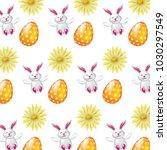 beautiful easter egg rabbit... | Shutterstock .eps vector #1030297549