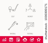 football  golf and baseball... | Shutterstock .eps vector #1030300171