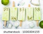 homemade vegan frozen coconut...   Shutterstock . vector #1030304155