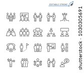 business people line icons.... | Shutterstock .eps vector #1030305691
