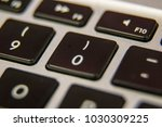 zero 0 keyboard key button... | Shutterstock . vector #1030309225