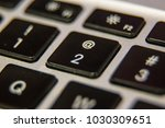 two 2 at symbol number keyboard ... | Shutterstock . vector #1030309651