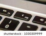 mute volume off symbol f10... | Shutterstock . vector #1030309999
