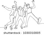 continuous line drawing of...   Shutterstock .eps vector #1030310005
